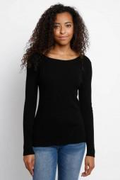 Neely Scoop Neck Directional Ribbed Pullover