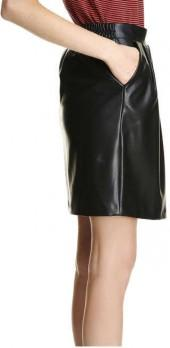 Joe Fresh Women's Pleated Pleather Skirt, JF Black (Size S)