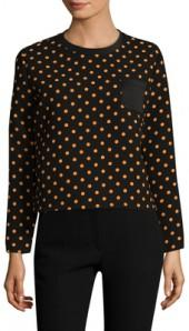Jersey Polka Dot Print Sweatshirt