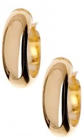 Made In Italy 14K Yellow Gold Domed Hoop Earrings