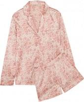 Stella McCartney - Poppy Snoozing Leopard-print Stretch-silk Satin Pajama Set - Pastel pink