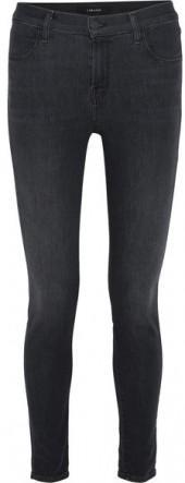 J Brand - Maria High-rise Skinny Jeans - Gray