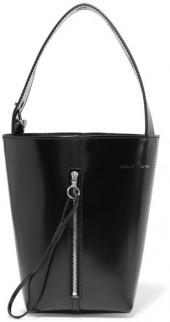 KARA - Box Pail Patent-leather Tote - Black
