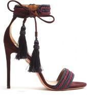 AQUAZZURA Shanty suede tassel sandals