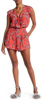 cupcakes and cashmere Fitz Floral Tie Romper