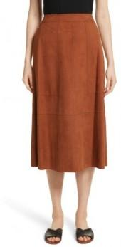 Women's Lafayette 148 New York Rosella Leather Skirt