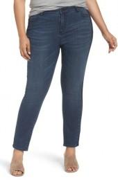 Plus Size Women's Caslon Side Panel Skinny Ankle Jeans