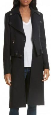 Women's Veronica Beard Alcott Wool & Cashmere Blend Vest Coat