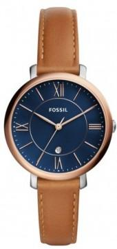 Women's Fossil Jacqueline Leather Strap Watch, 36Mm
