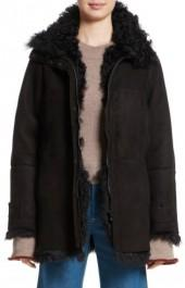 Women's Colovos Reversible Genuine Shearling Coat