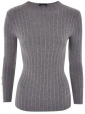 Topshop Ribbed funnel neck jumper