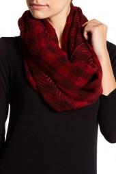 14th & Union Checkered Chevron Print Infinity Scarf