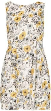*Tenki White Floral Print Skater Dress