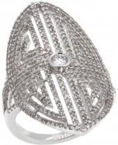 Rarities Fine Jewelry with Carol Brodie Rarities: Fine Jewelry with Carol Brodie 1.1ctw White Diamond Art Deco Ring