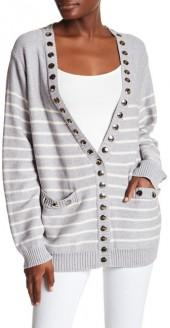 Thomas Wylde Stud Stripe Knit Cardigan