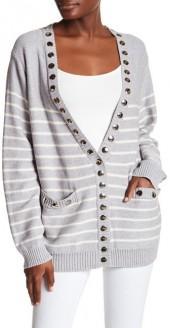 Thomas Wylde Stud Stripe Knit Cardigan