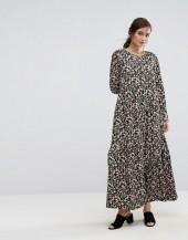 People Tree X V&A Maxi Dress In Tulip Foral