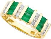 Macy's 14k Gold Emerald & Diamond Ring