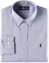 Polo Ralph Lauren Dress Shirt, Classic Fit Pinpoint Long Sleeve Shirt