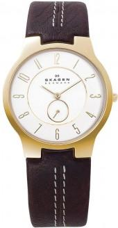 Skagen Denmark Watch, Men's Brown Leather Strap 433LGL1