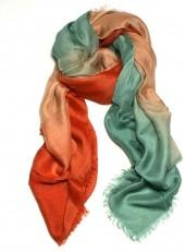 Dream Scarf - Coral/Blue Ombre