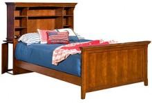 American Spirit Kids Bed, Twin Bookcase Bed