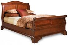 Bordeaux Louis Philippe-Style King Sleigh Bed
