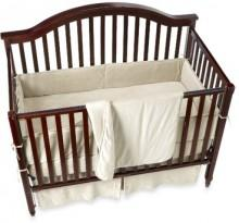 Organic Cotton Velour 4-Piece Crib Set - Natural