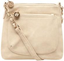 Cream mini crossbody bag