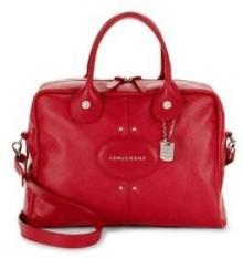 Quadri Textured Leather Top Handle Bag