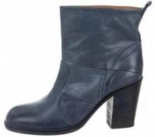 Maison Margiela Leather Round-Toe Ankle Boots