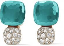 Pomellato - Nudo Solitaire 18-karat Rose Gold, Topaz And Diamond Earrings