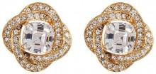 NADRI CZ Framed Button Earrings