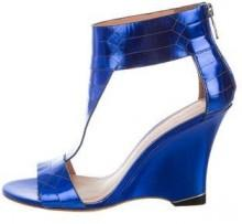 Sigerson Morrison Metallic Wedge Sandals