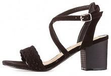Whipstitch Crisscross Sandals