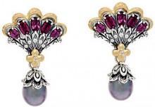 Barbara Bixby Sterling & 18K Cultured Pearl Mermaid Earrings