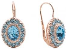 Made In Italy Rose Gold Plate Crystal Drop Earrings