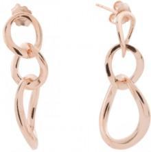Made In Italy Sterling Silver Triple Link Drop Earrings