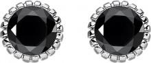 Thomas Sabo Glam & soul black stone sterling silver ear studs
