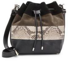 Mixed-Media Medium Bucket Bag