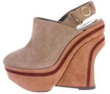 Marni Suede Slingback Wedges