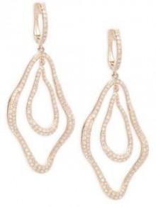 Diamond & 14K Rose Gold Dangle & Drop Earrings