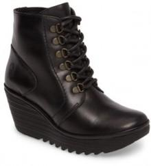 Women's Fly London Yarn Lace-Up Wedge Boot