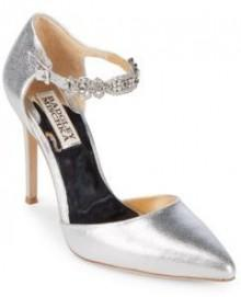 Pia II Metallic Leather Evening Pumps