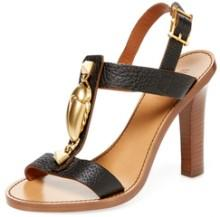 Scarab Leather Sandal