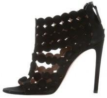 Alaïa Suede Laser Cut Sandals