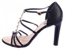Chanel Gripoix Leather Sandals