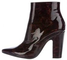 Maison Margiela Patent Leather Pointed-Toe Boots w/ Tags