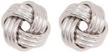 10K White Gold Love Knot Post Earrings