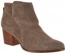 Sole Society Suede Ankle Boots with Zipper - River